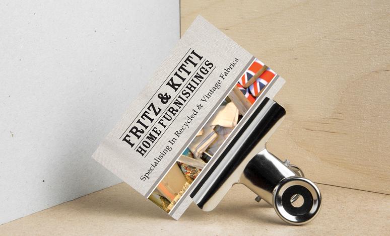 Business Card & Wordmark Design  Fritz & Kitti  BATDesign